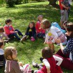 Abbaye-Groupe d'enfants