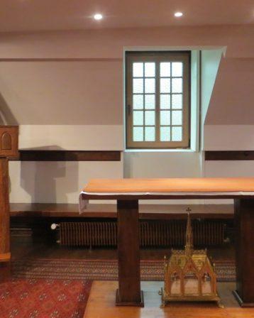 Abbaye-l'oratoire avec le reliquaire de Sainte Berthe