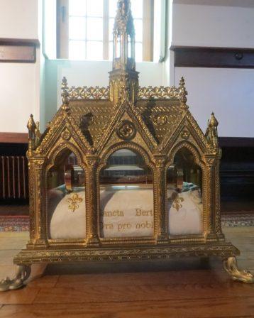 Abbaye-Le reliquaire de Sainte Berthe