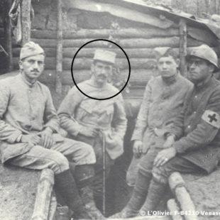 Henri Grialou en 1916, au camp St Robert / During the First Wolrd War / Enrique Grialou en 1916 durante la 1ª Guerra Mundial