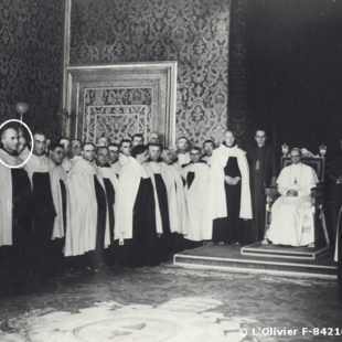 1947, une délégation de l'Ordre du Carmel en audience avec le Pape Pie XII / The Carmes with the Pope Pie XII / 1947, una Delegación de la Orden del Carmelo Descalzo en audiencia con el Papa Pío XII.