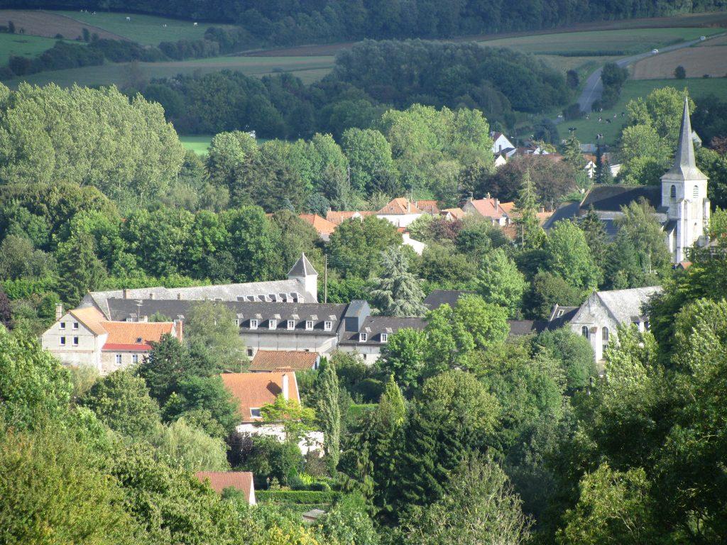 Abbaye Sainte Berthe et le village de Blangy
