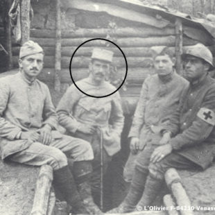 Henri Grialou en 1916, au camp St Robert / During the First Wolrd War / Enrique Grialou en 1916 durante la 1ª Guerra Mundial