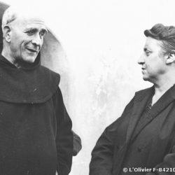 1960, avec Marie Pila à Notre-Dame de Vie (Venasque) / with Marie Pila in Notre-Dame de Vie